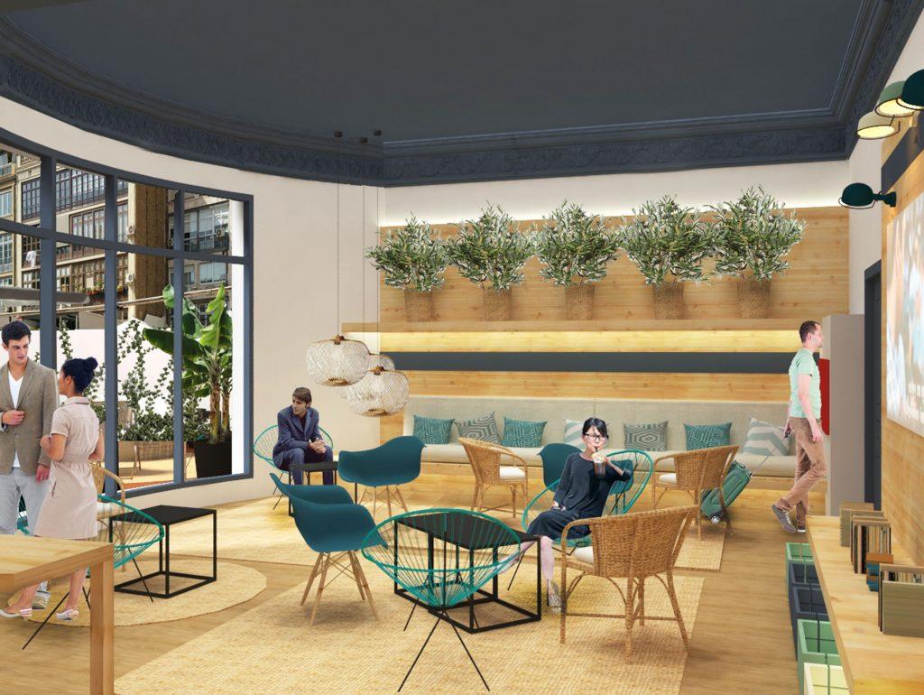 hostel hotel barcelona outdoor indoor design bivaq