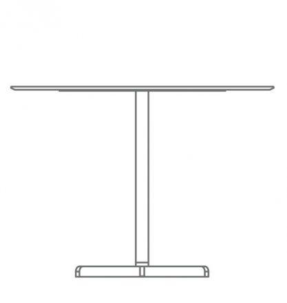 central leg table