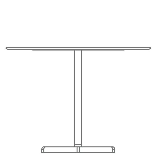 mesa de pie central