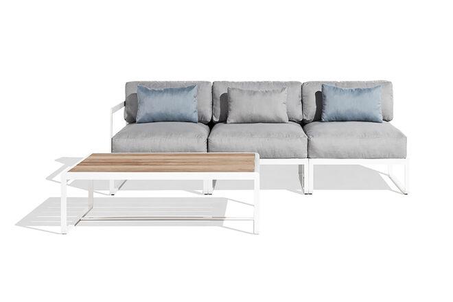 Sit sofa grey pearl & table