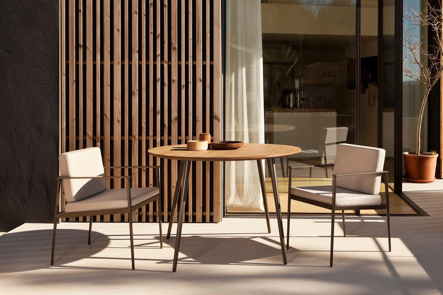 Vint mesa madera y sillón